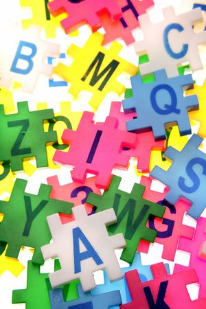 Alphabet letters and numbers Stock Photo - 3519536