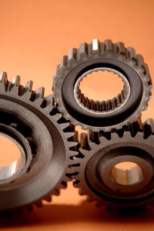 meshing: Three gears meshing together