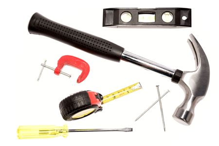 Assortment of tools over white Stock Photo - 3570635