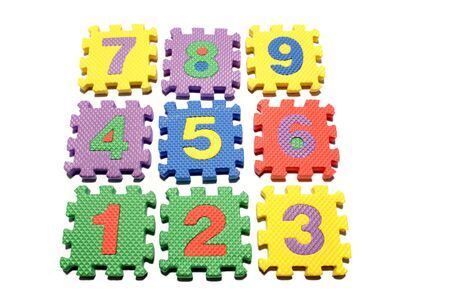 Number learning blocks isolated over white Stock Photo - 3570669