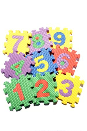 Number learning blocks isolated over white Stock Photo - 3570670