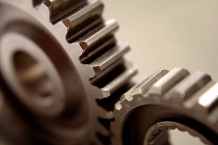 Two gears meshing together Stock Photo - 3591513