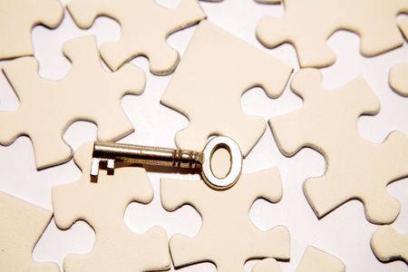 Key on puzzle Stock Photo - 3653479