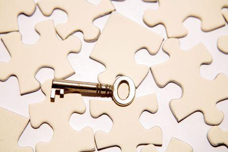 Key on puzzle Stock Photo - 3653479