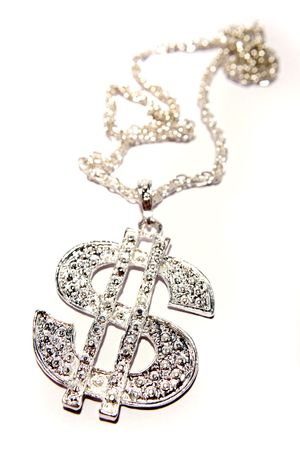 Silver dollar-symbol necklace Stock Photo - 3653490