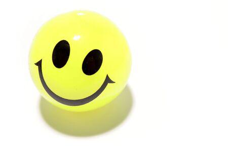 goof: Smiley face on white Stock Photo