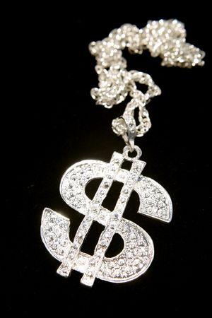 Silver dollar-symbol necklace photo
