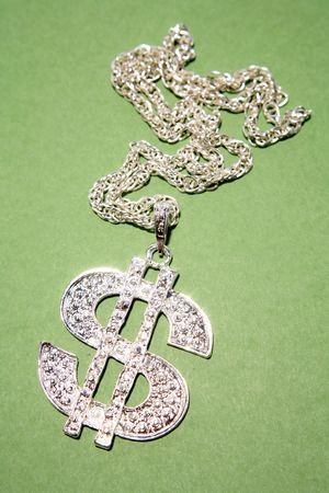 Dollar symbol necklace photo