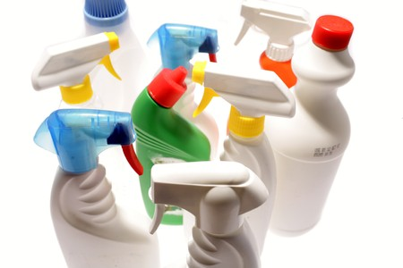 Cleaning bottles photo