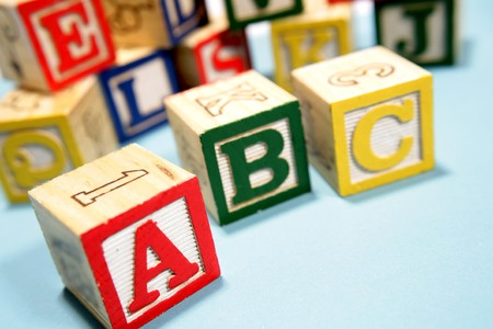 Alphabet learning blocks Stock Photo - 4072948