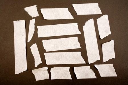 masking: Pieces of masking tape