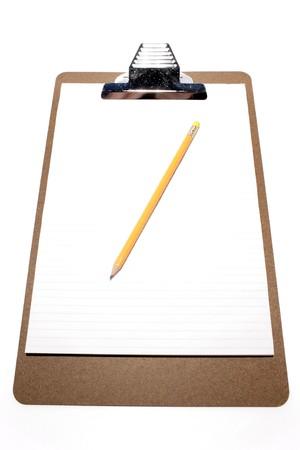 Pencil on clipboard photo