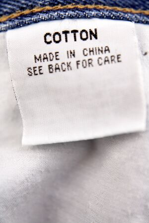 Cotton label photo