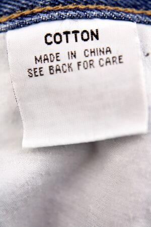 Cotton label photo