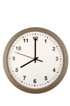 Wall clock isolated on white background Stock Photo - 4185788
