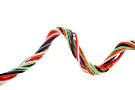 cabling: Colorful cabling on white background