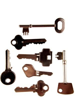 Keys isolated on white background Stock Photo - 4207931