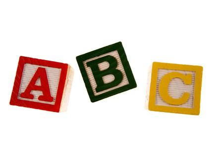 ABC learning blocks isolated over white Stock Photo - 4245165