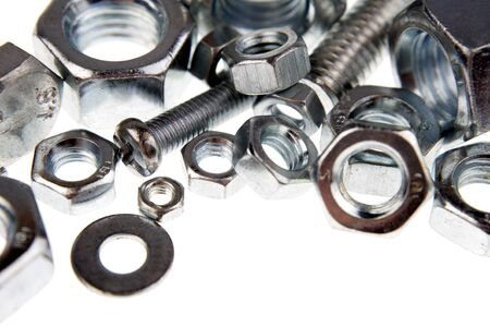 Closeup of nuts and bolts Stock Photo - 4293376