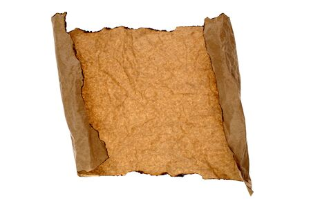 Brown paper on white background photo