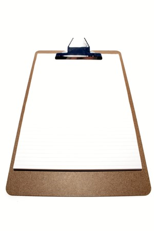 clipboard isolated: Clipboard isolated on white background