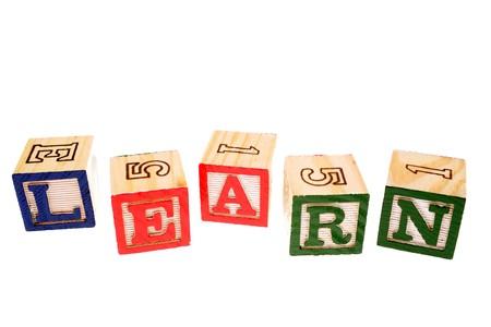 Alphabet learning blocks Stock Photo - 4356133