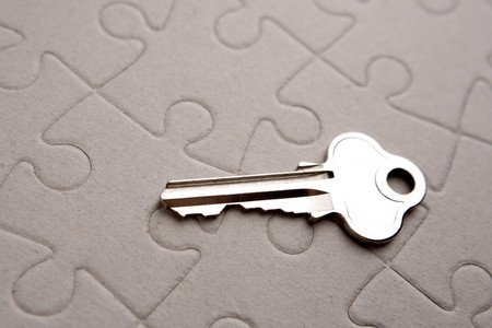 Key on puzzle photo