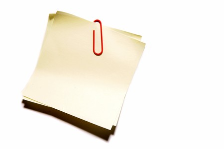 Blank note paper photo