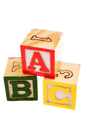 Alphabet learning blocks Stock Photo - 4448473