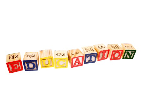 Alphabet learning blocks photo