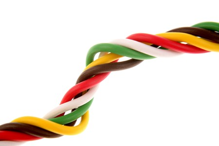 cabling: Cabling on white background Stock Photo