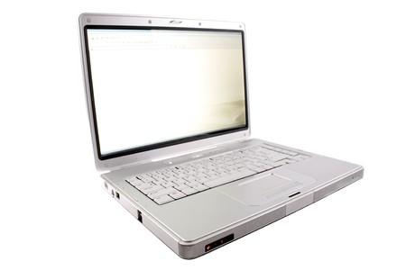 Laptop computer isolated on white background photo