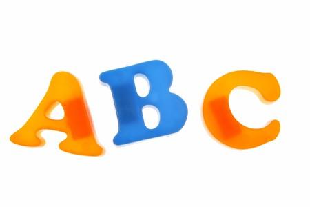 Alphabet letters isolated on white background Stock Photo - 4528831