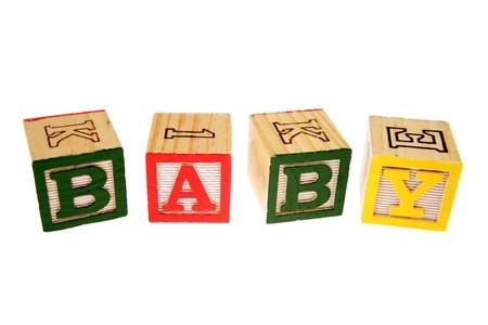 Alphabet learning blocks spelling baby photo