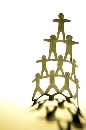 Human pyramid photo