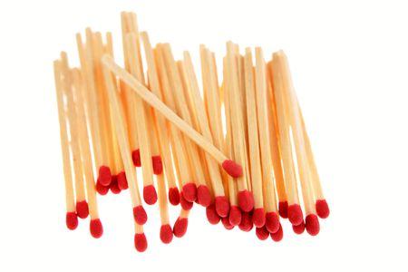 Matches on white photo