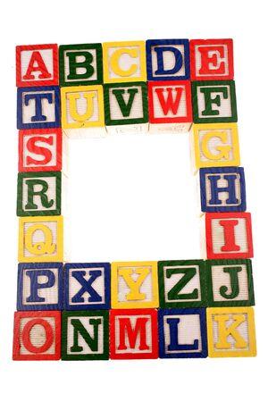 Alphabet learning blocks photo