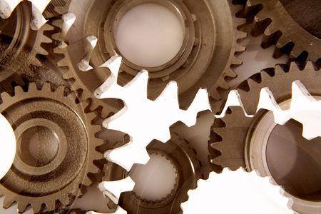 varied: Metal gears Stock Photo