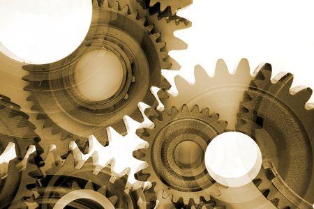 interlink: Metal gears Stock Photo