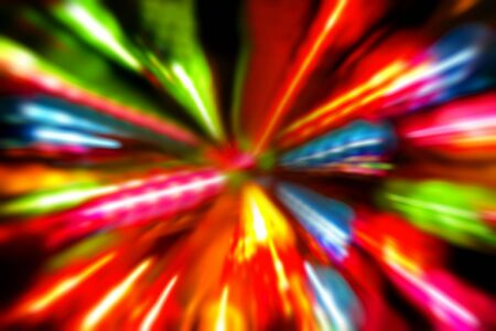 Multiple colorful lights blur background photo
