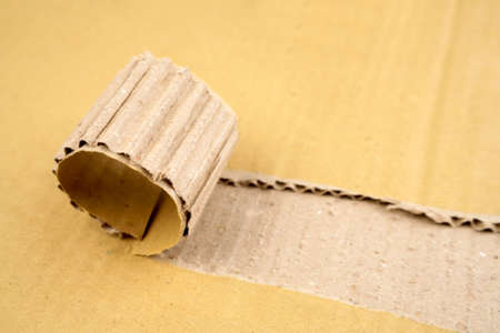 Tear in corrugated cardboard Stock Photo - 4740910