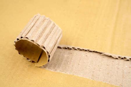 Tear in corrugated cardboard Stock Photo - 4740910