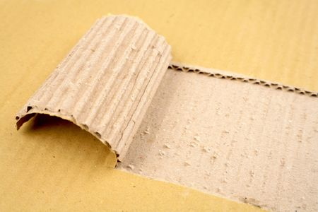 Tear in corrugated cardboard Stock Photo - 4759289