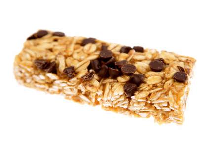 Snack bar isolated on white background photo