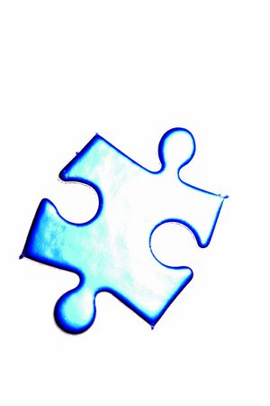 loner: Jigsaw puzzle piece on white background