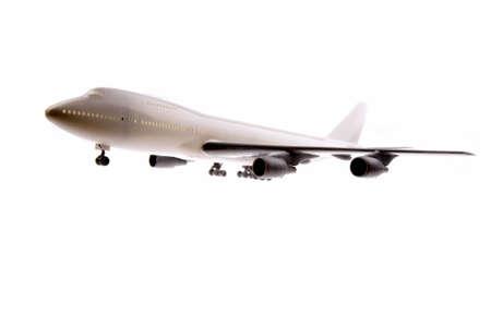 Model plane isolated on white photo