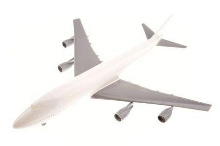 Airplane isolated on white background photo