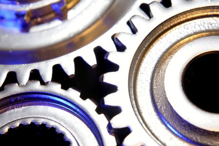 interlink: Closeup of three gears