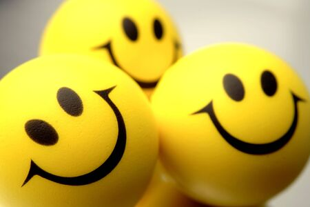 caras felices: Caras sonrientes  Foto de archivo