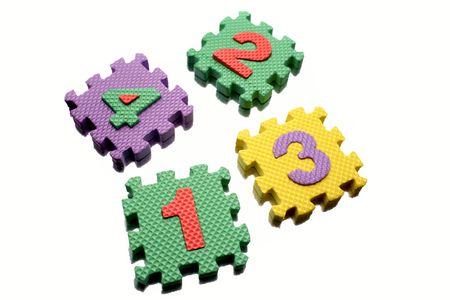 Number learning blocks on white Stock Photo - 5181995